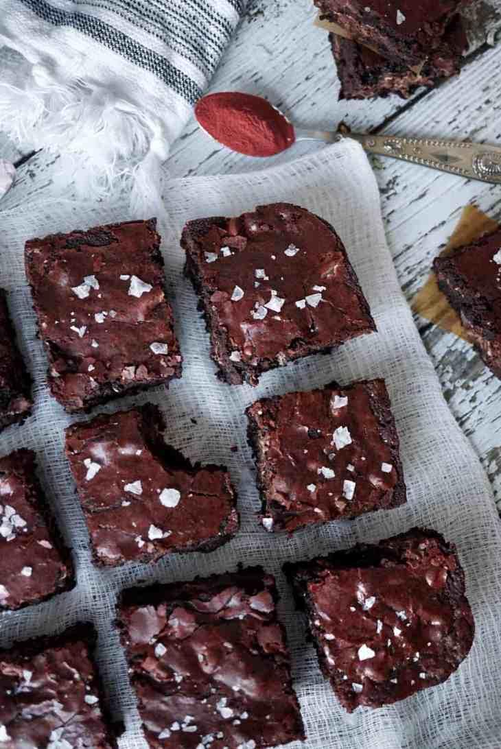 Heart Beet Valentine's Day Homemade Brownie Recipe 11