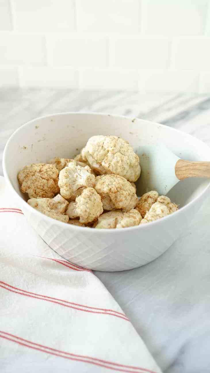 cauliflower in a white bowl