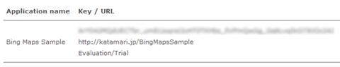 Bing Maps Key