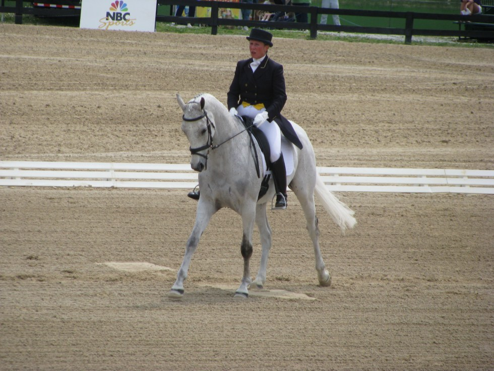 Rolex Three Day Event -- Dressage, Comet!
