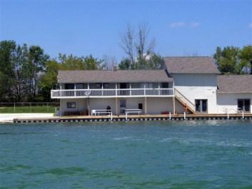 Inland Lake Sea Wall and Boardwalk Michigan