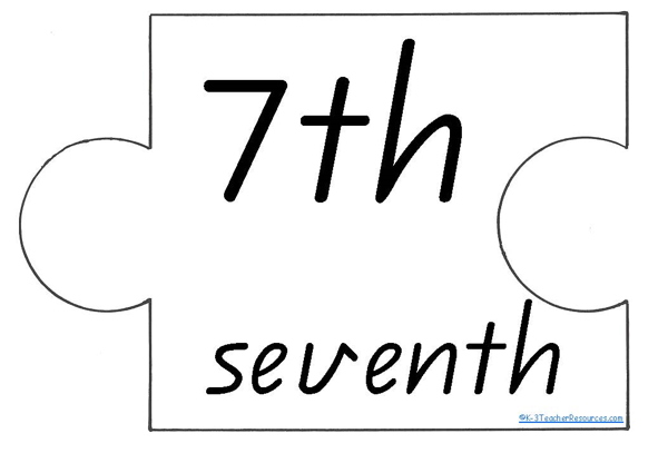 Printable Ordinal Numbers K-3 Teacher Resources
