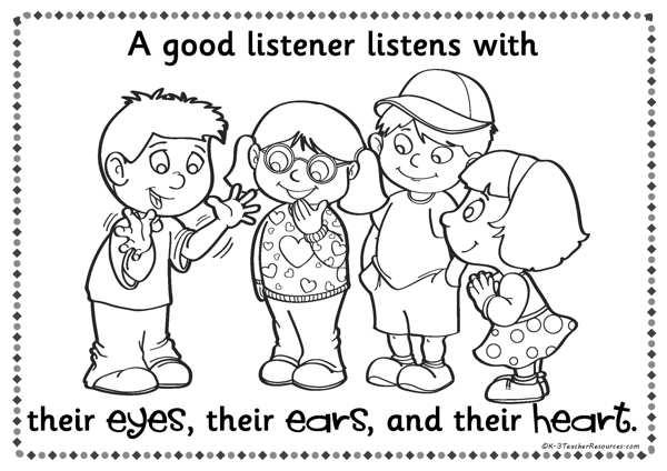 A Good Listener Posters K-3 Teacher Resources