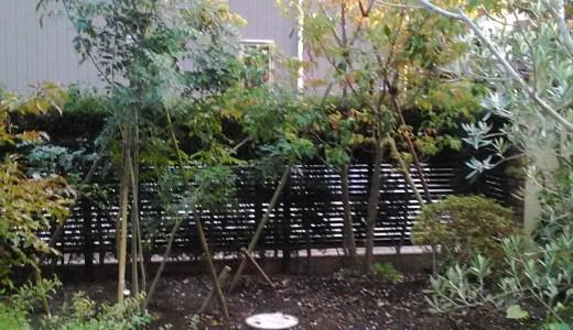 洋風の庭に浅間石・化粧砂利で雰囲気造り