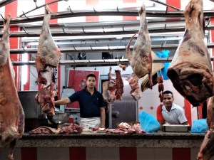 K in Motion Travel Blog. Adventures in Northern Morocco. Friendly Neighbourhood Butcher