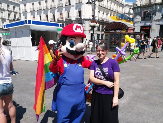 K in Motion Travel Blog. Shenanigans in Sunny Spain. Itsa Mario!