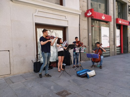 K in Motion Travel Blog. Shenanigans in Sunny Spain. Eye Of The Tiger - orchestral style! in Madrid