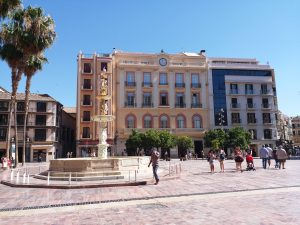 K in Motion Travel Blog. Shenanigans in Sunny Spain. Modest Malaga Buildings