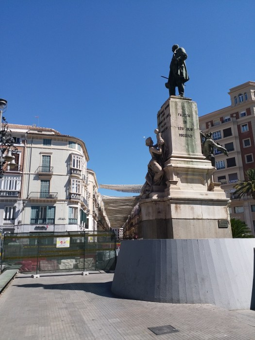 K in Motion Travel Blog. Shenanigans in Sunny Spain. Modest Malaga Monument