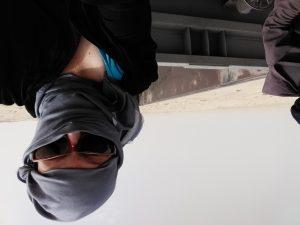 K in Motion Travel Blog. Mauritanian Adventure - Coast to Capital on the Iron Train. Me on The Iron Train on the way to Choum from Nouadhibou, Mauritania