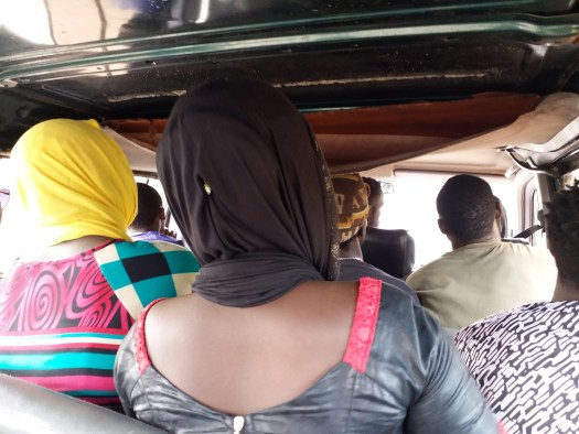 K In Motion Travel Blog. Crowded Bus From Brikama to Soma, Gambia