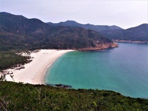 K in Motion Travel Blog. Hong Kong on a Budget. Secluded Beach off a Hiking Trail