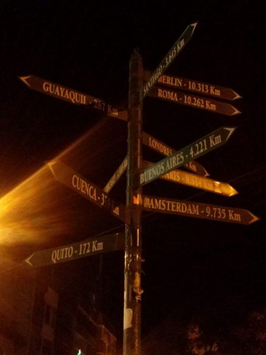 K in Motion Travel Blog. Night In Banos, Ecuador