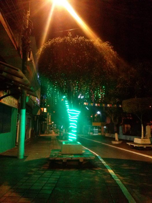 K in Motion Travel Blog. Baños - A Crazy Little Town in Ecuador. Empty Street at Night In Banos, Ecuador