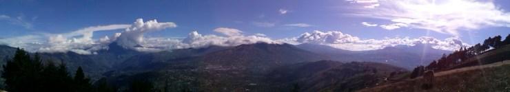 K in Motion Travel Blog. Baños - A Crazy Little Town in Ecuador.Tungurahua Volcano, Outside of Banos, Ecuador