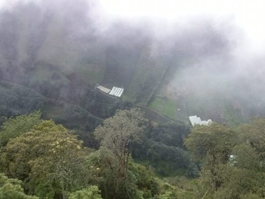 K in Motion Travel Blog. Baños - A Crazy Little Town in Ecuador. Egde of the Mountain at Casa del Arbol, Ecuador