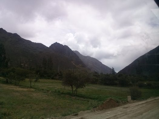 K in Motion Travel Blog. View From the Train. Ollantaytanbo to Aguas Calientes. Machu Picchu Pueblo, in the Andes, Peru