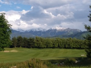 K in Motion Travel Blog. Almaty Kazakhstan. Mountain View from Zhajilau Golf Club