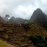 K in Motion Travel Blog. Adventures In Southern Peru. Tree, Ruins and Mountain at Machu Picchu, in the Andes, Peru