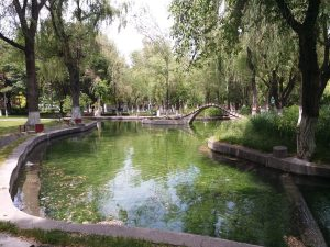 K in Motion Travel Blog. Journey to Kazakhstan Via Western China. Urumqi Children's Park Stream