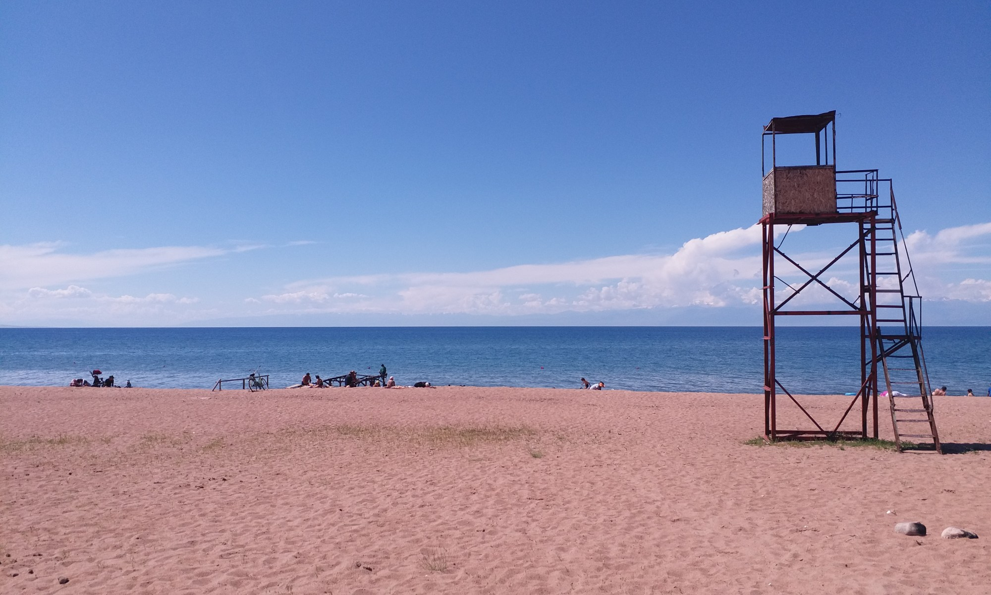 K in Motion Travel Blog. Eastern Kyrgyzstan. Lake Issyk-Kul from Kadji-Sai