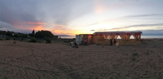 K in Motion Travel Blog. The Quirks of Eastern Kyrgyzstan. Makeshift Restaurant By Lake Issyk-Kul at Kadji-Sai
