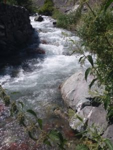 K in Motion Travel Blog. Silk Road to Southwestern Kyrgyzstan. Roadside Stop - Kara-Balta River