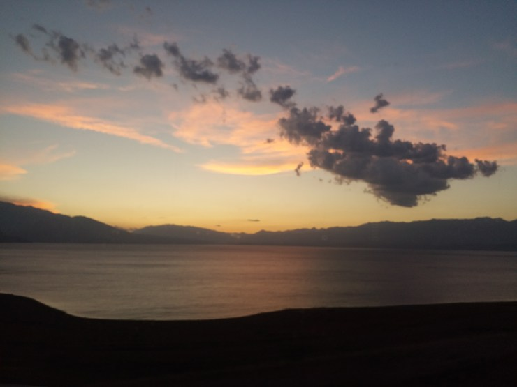K in Motion Travel Blog. Silk Road to Western Kyrgyzstan. Scenic lake on the way to Jalal-Abad