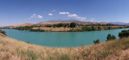 K in Motion Travel Blog. Underrated Uzbekistan. Chirchiq River in Kazhikent