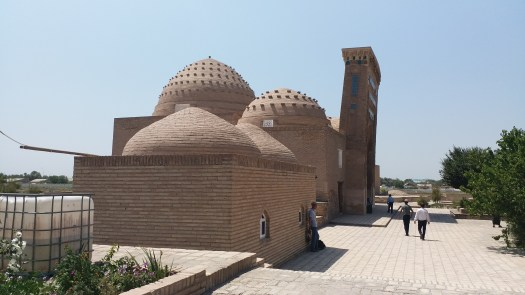 K in Motion Travel Blog. Travel to Turkmenistan - Frontier to Fire. Nadjmeddin Kubra Mausoleum with Angled Wall in Kunya-Urgench
