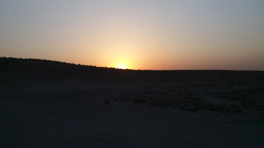 K in Motion Travel Blog. Travel to Turkmenistan - Frontier to Fire. Sunset Near the Darvaza Gas Crater. Gate to Hell