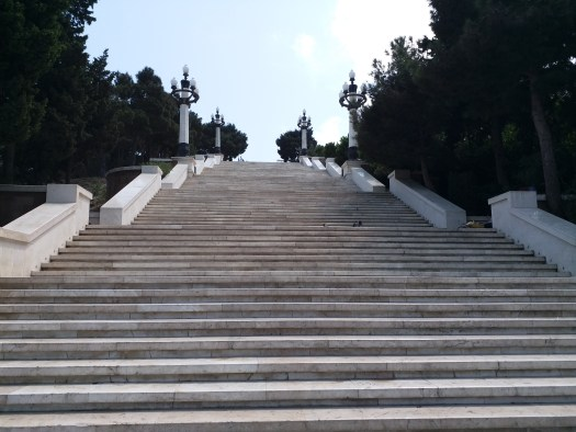 K in Motion Travel Blog. Beautiful Baku. Last Lot of Stairs to the Hill