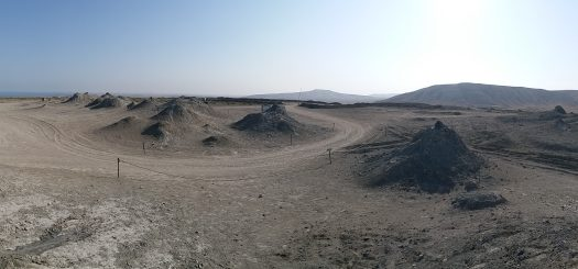 K in Motion Travel Blog. Beautiful Baku. Mud Volcanoes, Qobustan