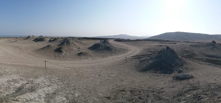 K in Motion Travel Blog. Beautiful Baku. Mud Volcanoes, Qobustan