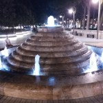 K in Motion Travel Blog. Beautiful Baku. Fountain at Night