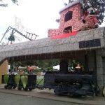 K in Motion Travel Blog. Mountain Adventures in Costa Rica. Las Juntas Town Square Santa Train