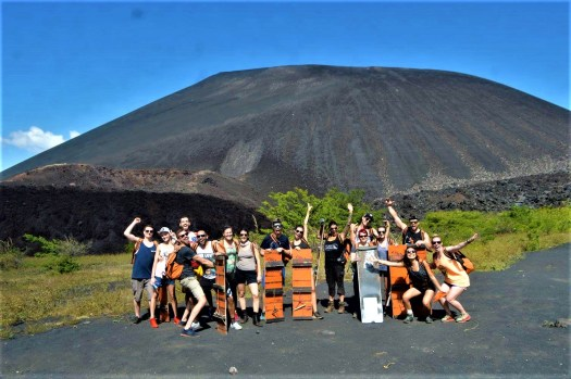 K in Motion Travel Blog. Love and Volcanoes in Nicaragua. Leon - Volcano Boarders at Cerro Negro