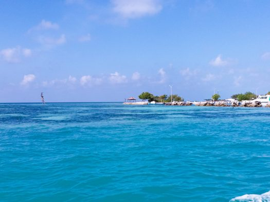 K in Motion Travel Blog. Travelling the Maldives on a Budget. Entering the Himmafushi Port