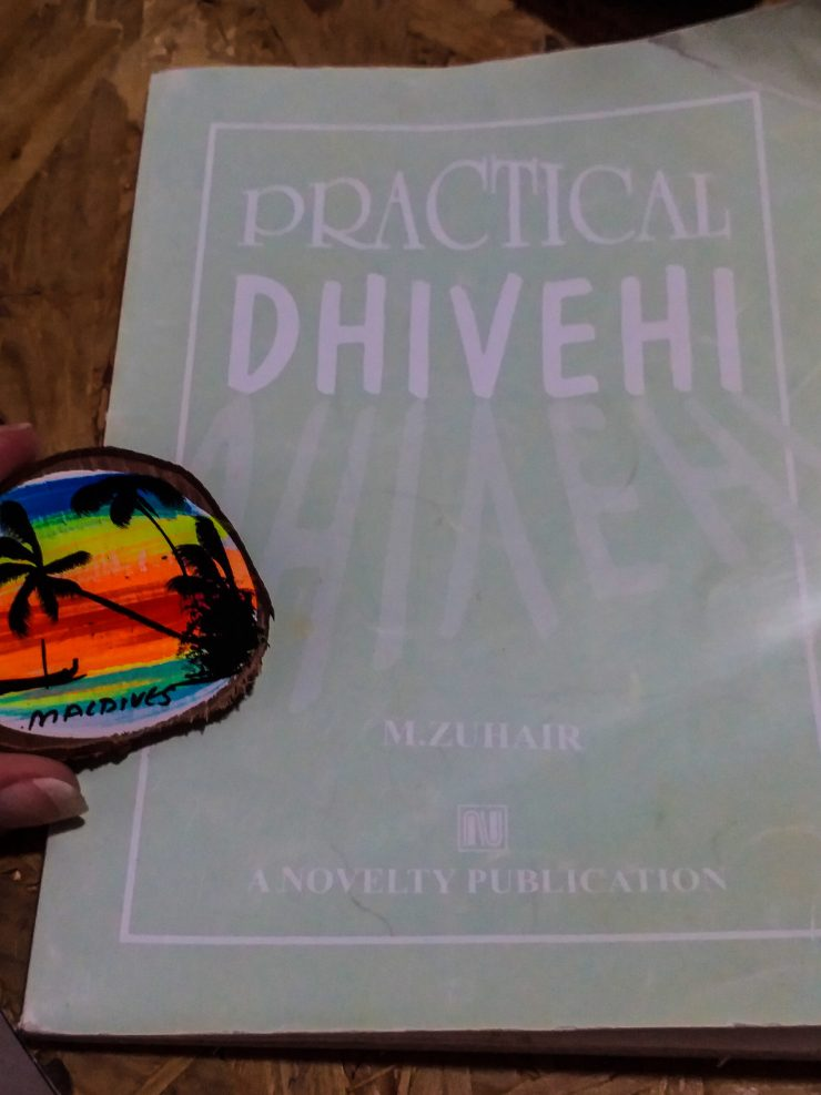 K in Motion Travel Blog. Travelling the Maldives on a Budget. Dolphin Shop Souvenir and Dhivehi Lesson on Himmafushi