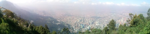 K in Motion Travel Blog. Contemporary Colombia and its Colourful Cities. View From Monserrate