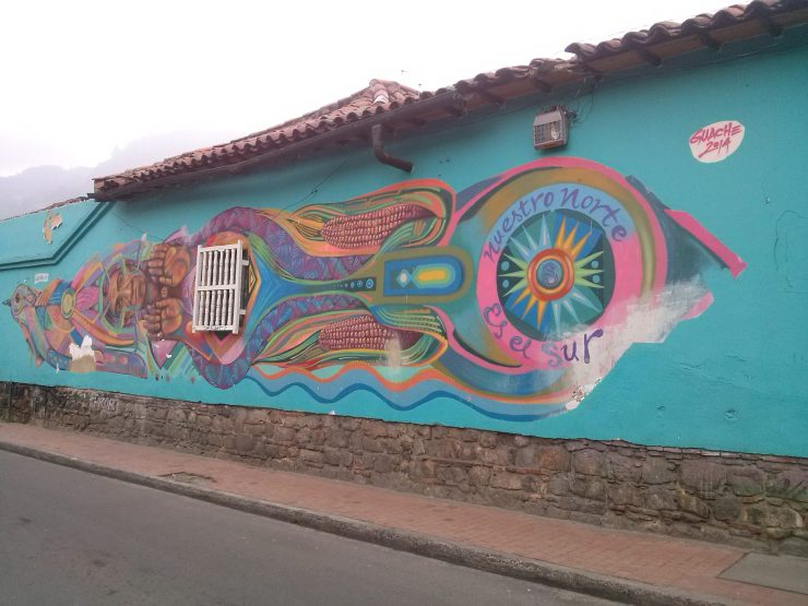 K in Motion Travel Blog. Contemporary Colombia and its Colourful Cities. Traditional Mural