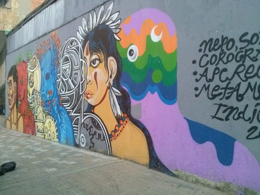 K in Motion Travel Blog. Contemporary Colombia Street Art. Bogota Diversity Mural