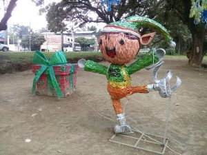 K in Motion Travel Blog. Contemporary Colombia and its Colourful Cities. Ibague People-Size Christmas Decoration