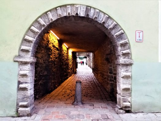 K in Motion Travel Blog. Discover Old and New Tallinn. Stone Tunnel in the Old Town