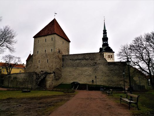 K in Motion Travel Blog. Discover Old and New Tallinn. City Wall Near Toompea Castle