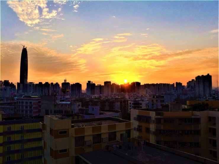 K in Motion Travel Blog. Around the World in Sunsets. Shenzhen, China