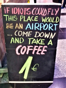 K in Motion Travel Blog. Amusingly Funny Signs Around the World. Idiot Airport Sign Helsinki