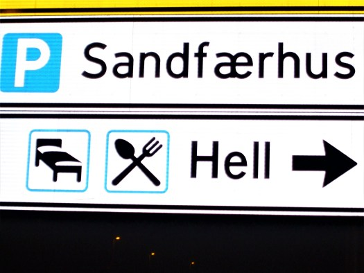 K in Motion Travel Blog. Amusingly Funny Signs Around the World. Sign to Hell, Norway