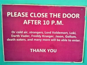 K in Motion Travel Blog. Amusingly Funny Signs Around the World. Ecuador Hostel Sign 2