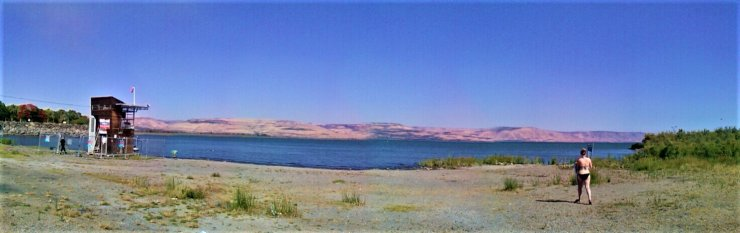 K in Motion Travel Blog. Mesmerising Lakes Around the World. Sea of Gallilee Israel